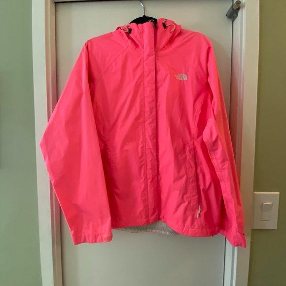 North Face Neon Pink Rain Jacket